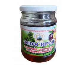 Фитосироп Из плодов шиповника с черносливом