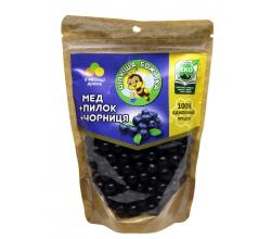 """Натуральные медовые конфеты драже """"Целебная пчелка"""" с черникой"""