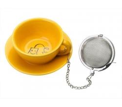 Желтая подставка под чайные пакетики