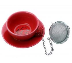 Красная подставка под чайные пакетики