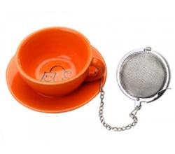 Оранжевая подставка под чайные пакетики