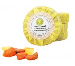 Мило-скраб з бурштином та апельсином велике