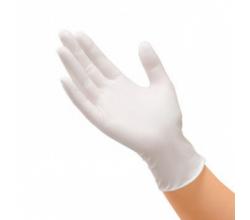 Белые одноразовые стерильные перчатки