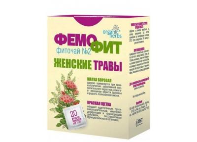 Фиточай Organic Herbs Фемофит № 2