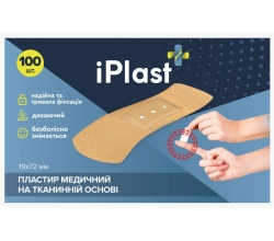 Медичний пластир на тканинній основі 19*72мм 100шт